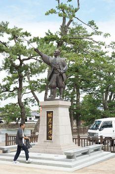 松江城駐車場.JPG